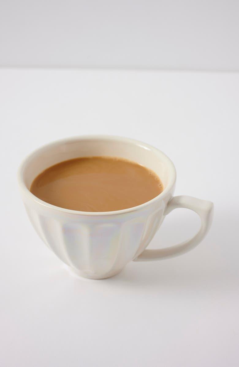 ANTHROPOLOGIE HOME Luster Latte Mug, Main, color, WHITE
