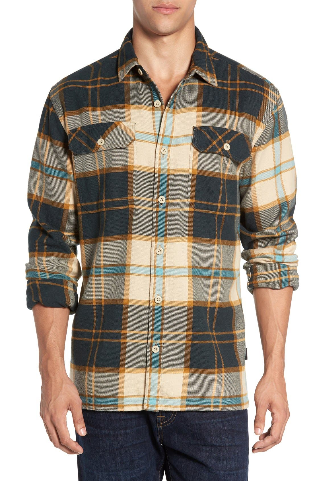 ,                             'Fjord' Regular Fit Organic Cotton Flannel Shirt,                             Main thumbnail 90, color,                             250