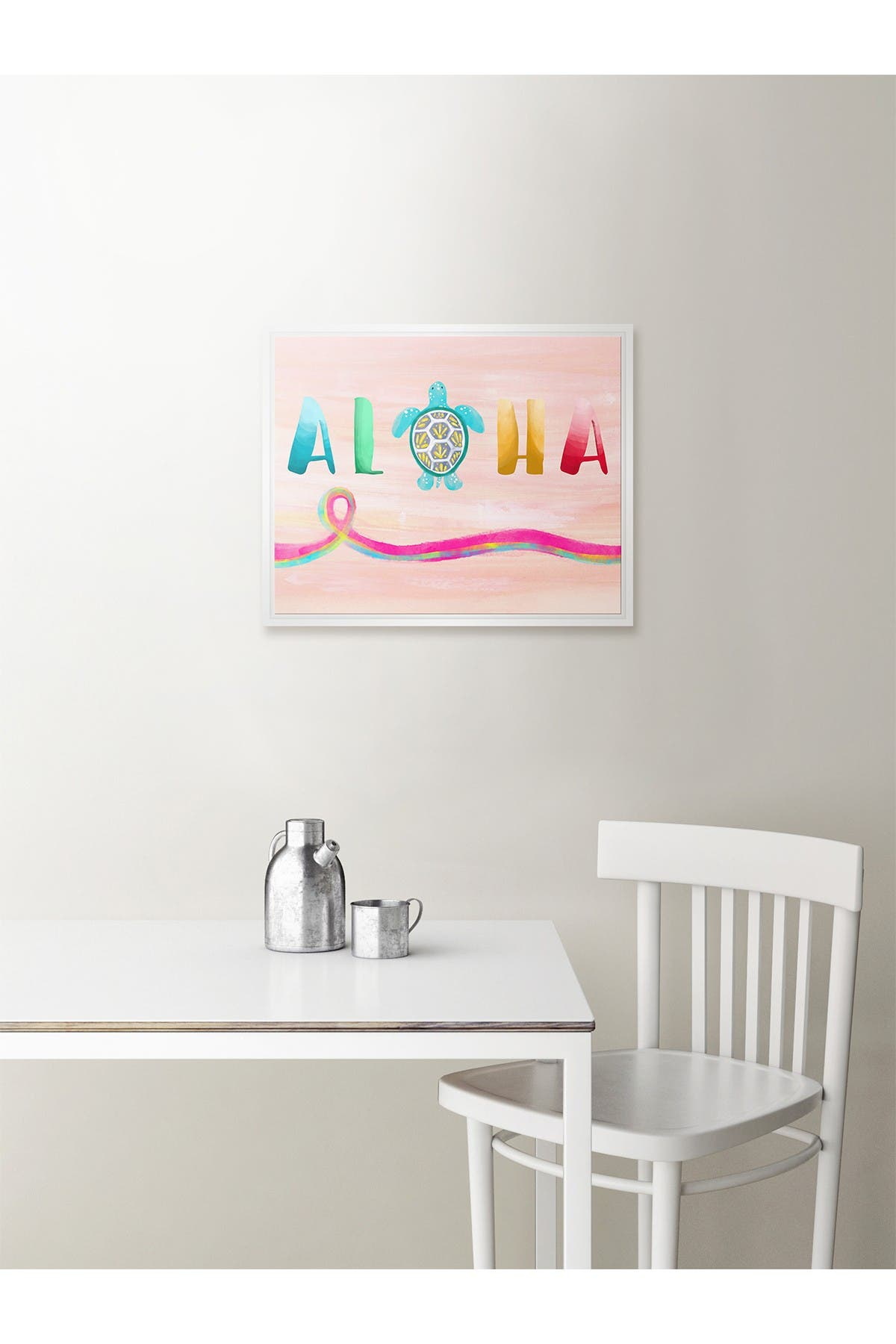 """Image of PTM Images Aloha Framed Gallery Wrapped Canvas - 17.5"""" x 21.5"""""""