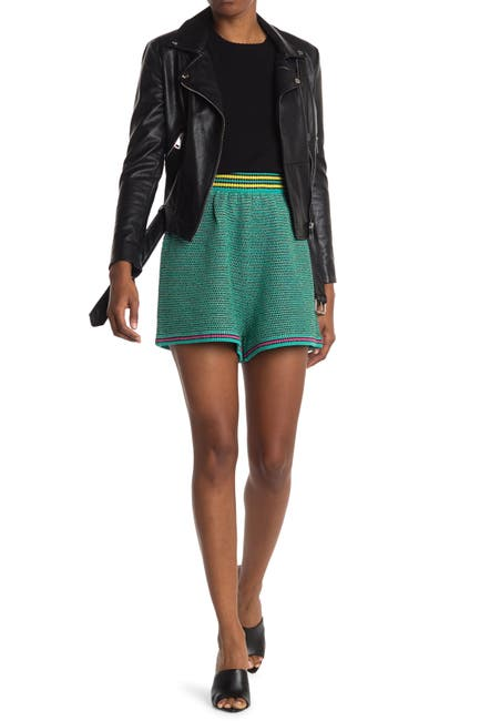 Image of M Missoni Stripe Trim Knit Shorts