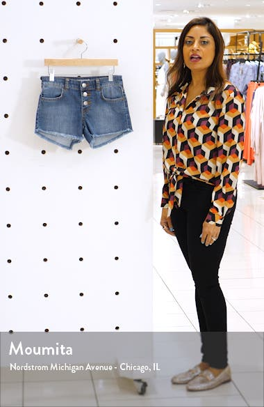 Buttoned Up Denim Shorts, sales video thumbnail