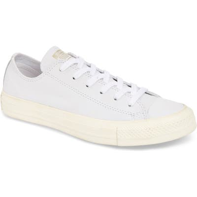 Converse Chuck Taylor All Star Luxe Leather Low Top Sneaker, Grey