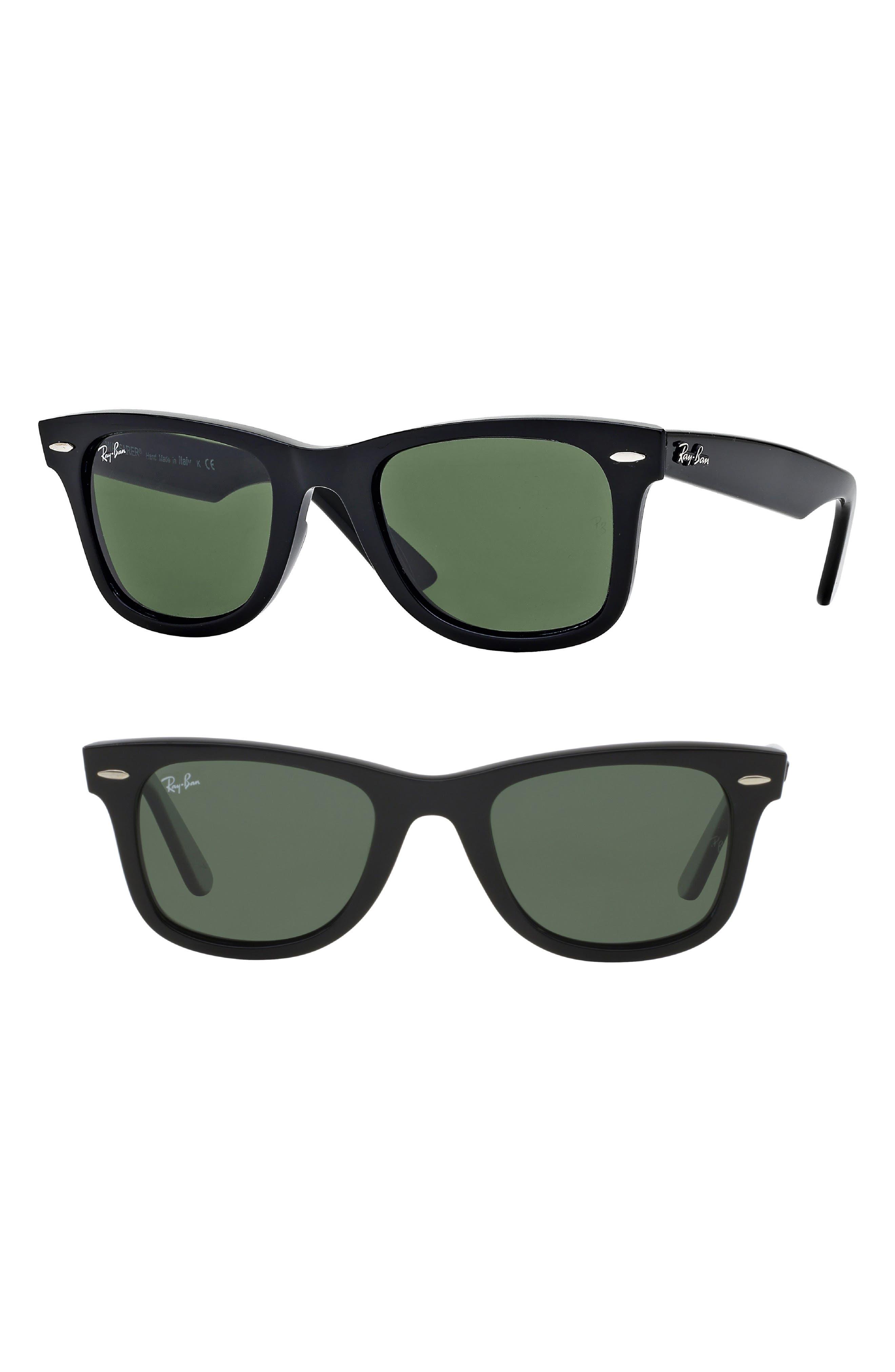 ,                             Large Classic Wayfarer 54mm Sunglasses,                             Main thumbnail 1, color,                             001