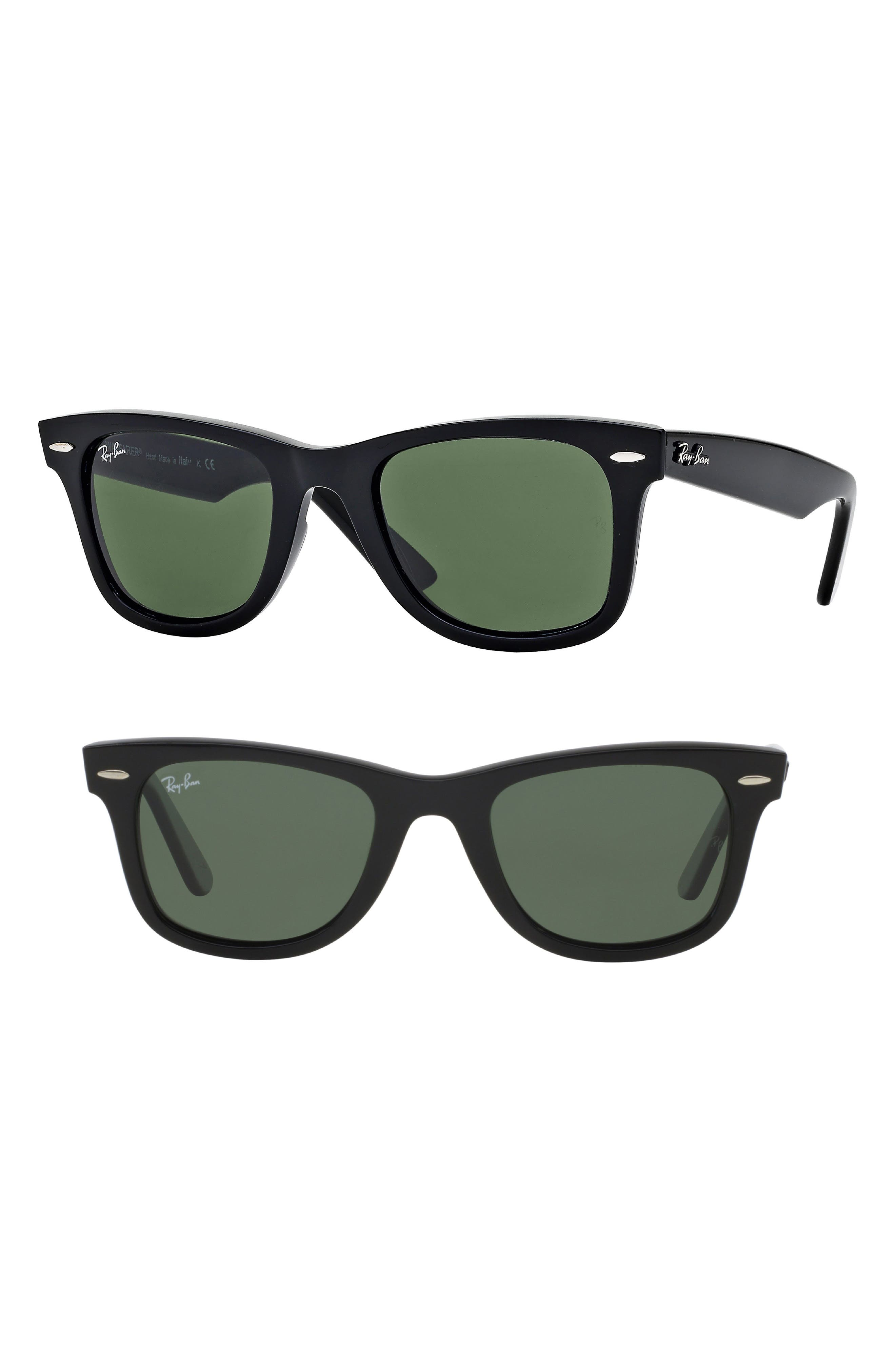 Large Classic Wayfarer 54mm Sunglasses, Main, color, 001