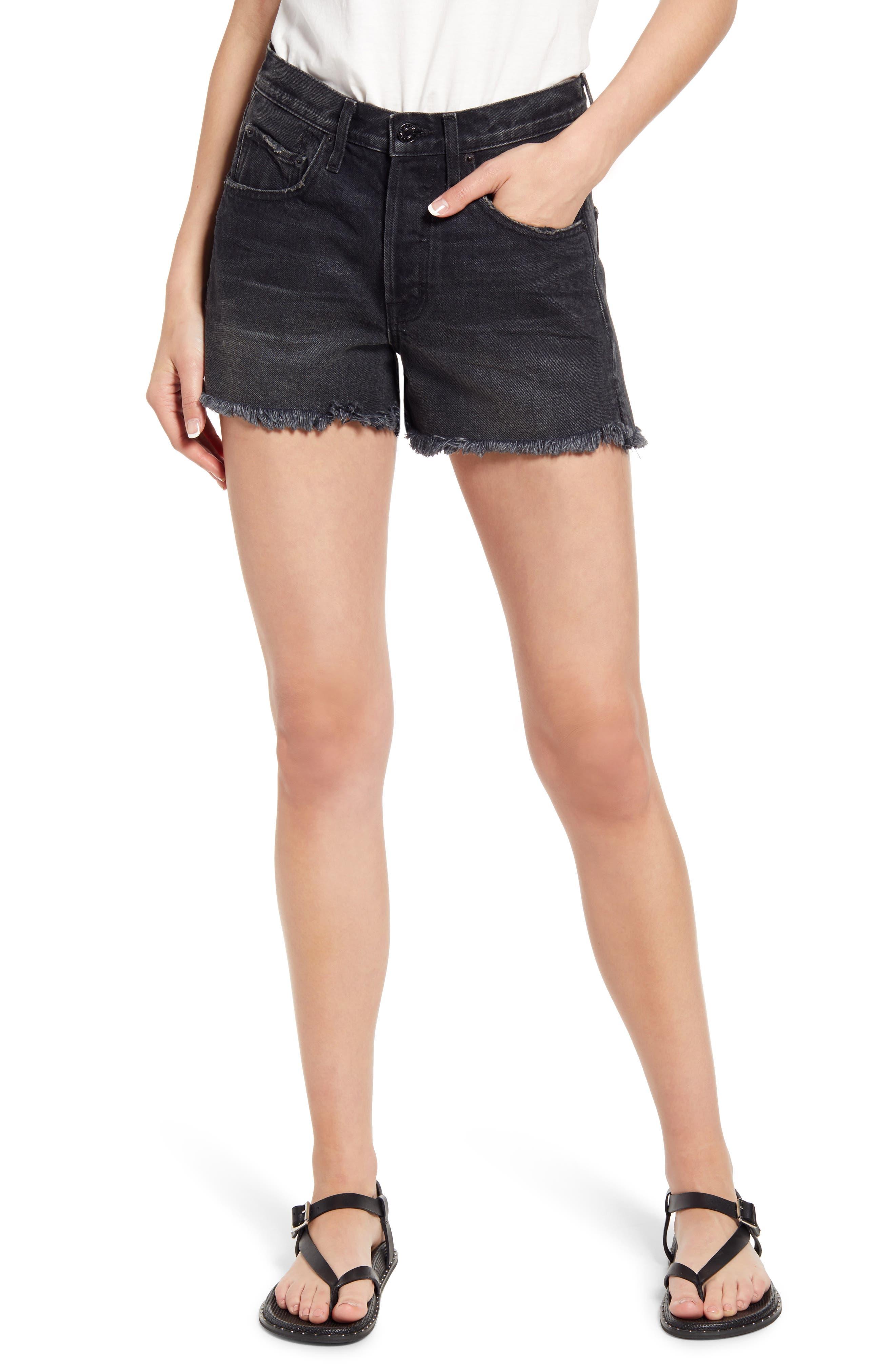 Cai High Waist Denim Cutoff Shorts