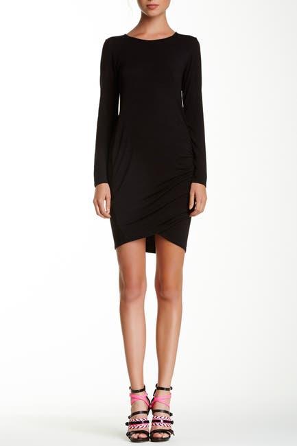 Image of Loveappella Long Sleeve Draped Dress
