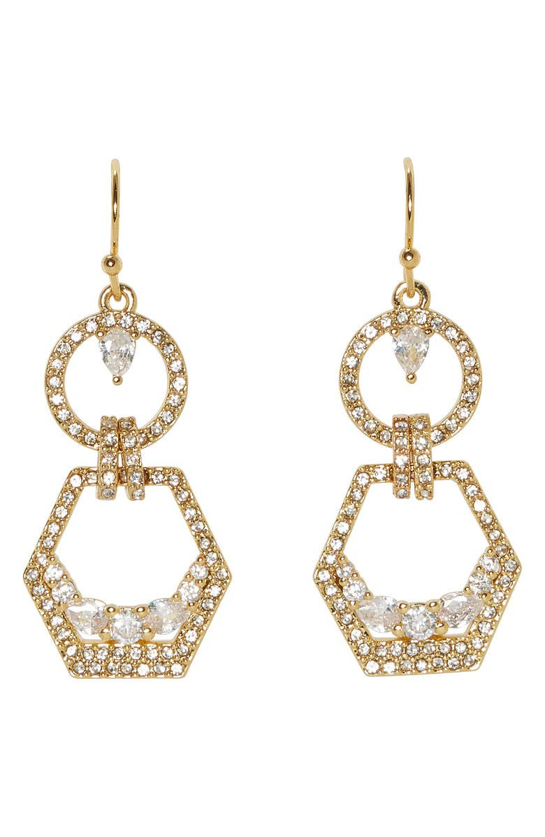 VINCE CAMUTO Double Drop Earrings, Main, color, GOLD