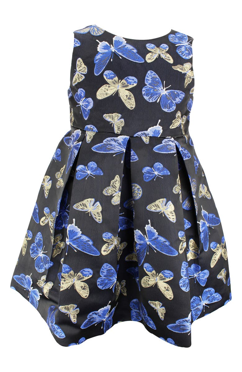 POPATU Butterfly Fit & Flare Dress, Main, color, NAVY