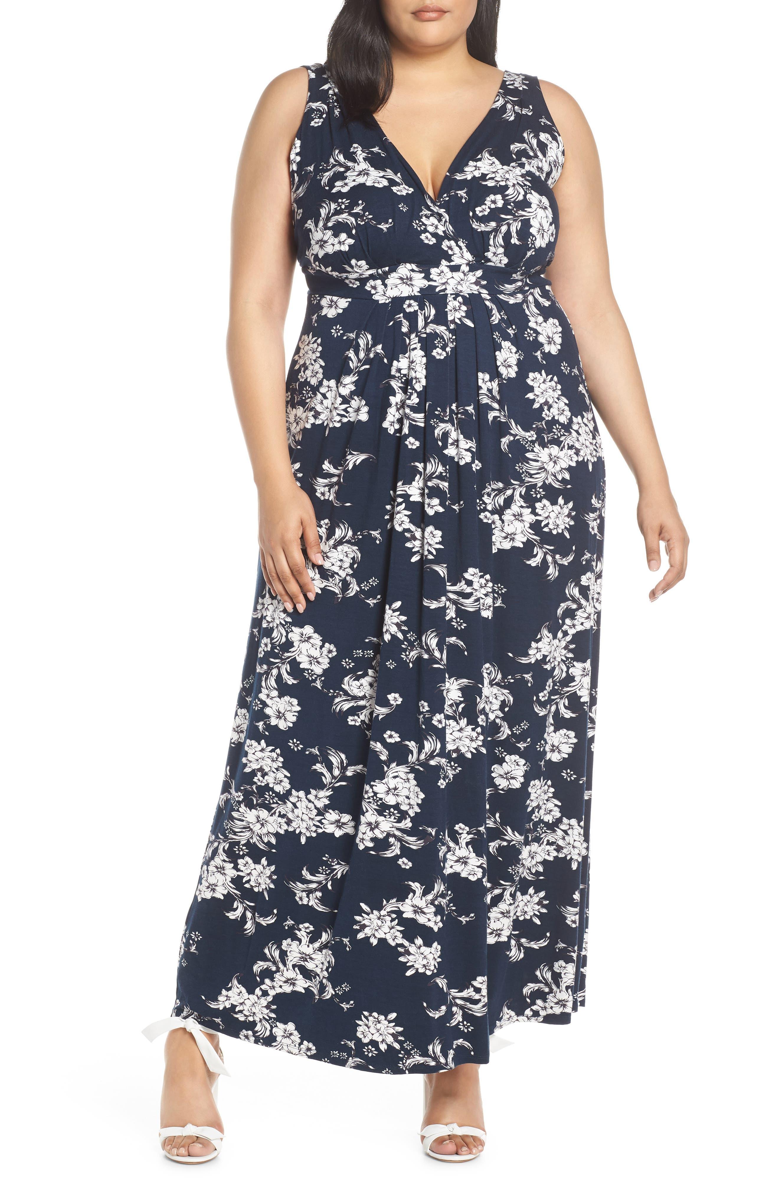 Plus Size Lemon Tart Chloe Maxi Dress, Black