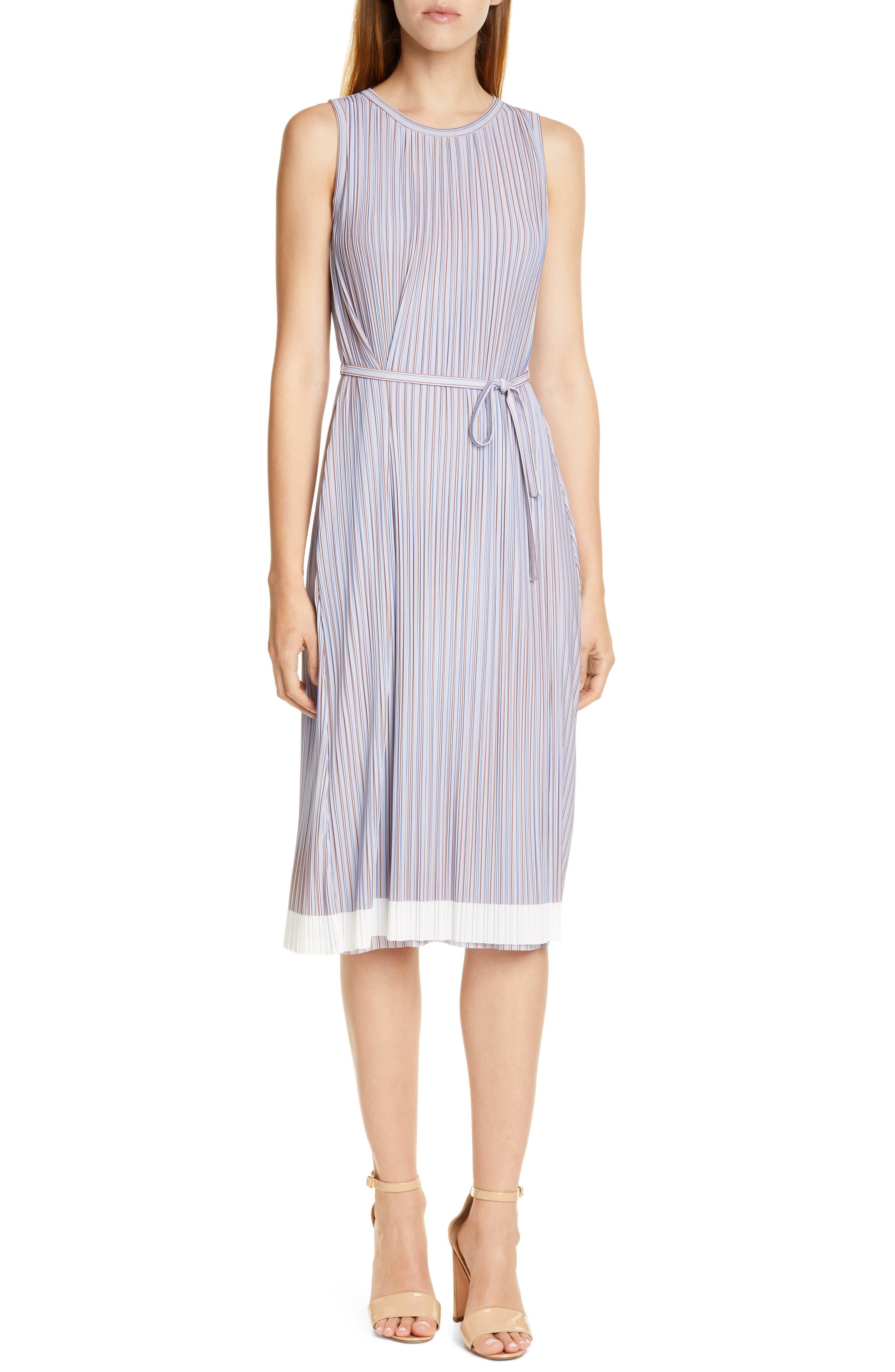 Boss Enadira Sleeveless Tie Waist Dress, Purple