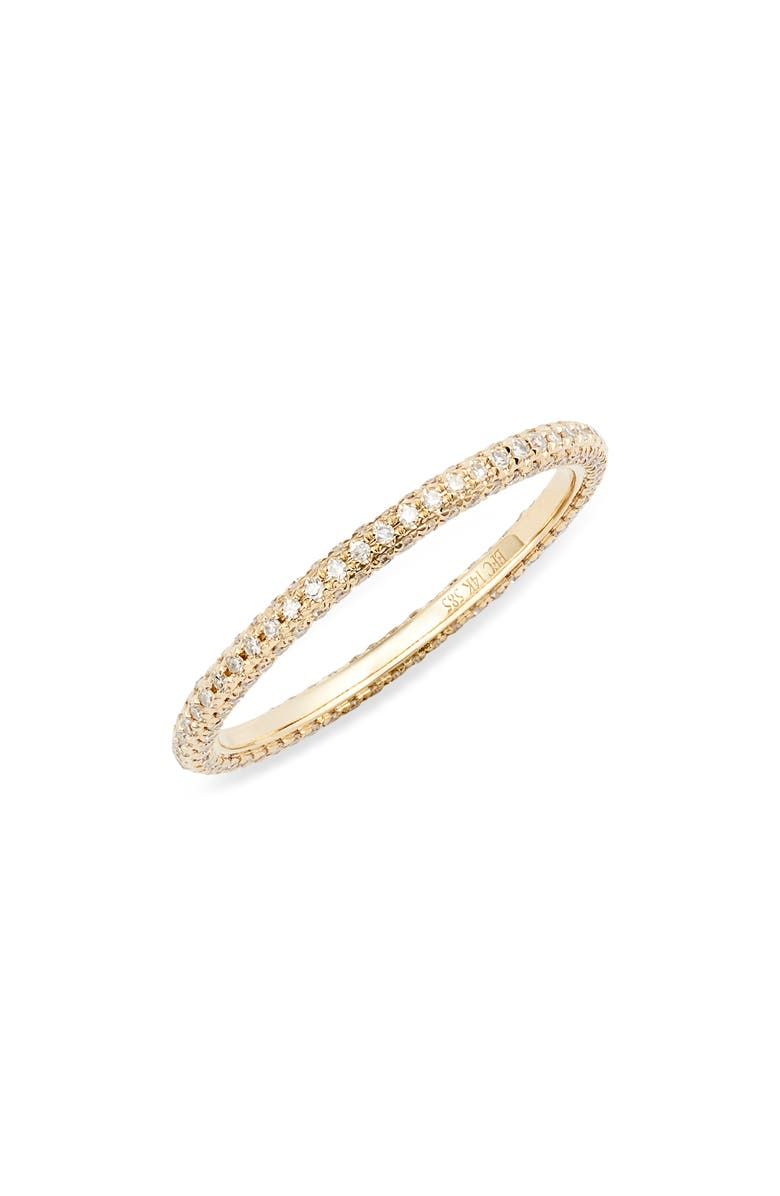 EF COLLECTION Diamond Eternity Band Ring, Main, color, DIAMOND/ YELLOW GOLD