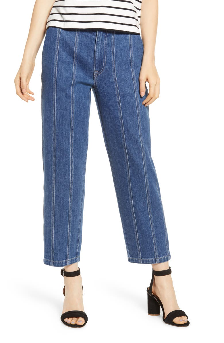 MADEWELL Seamed Edition Tapered Jeans, Main, color, FERNHILL WASH