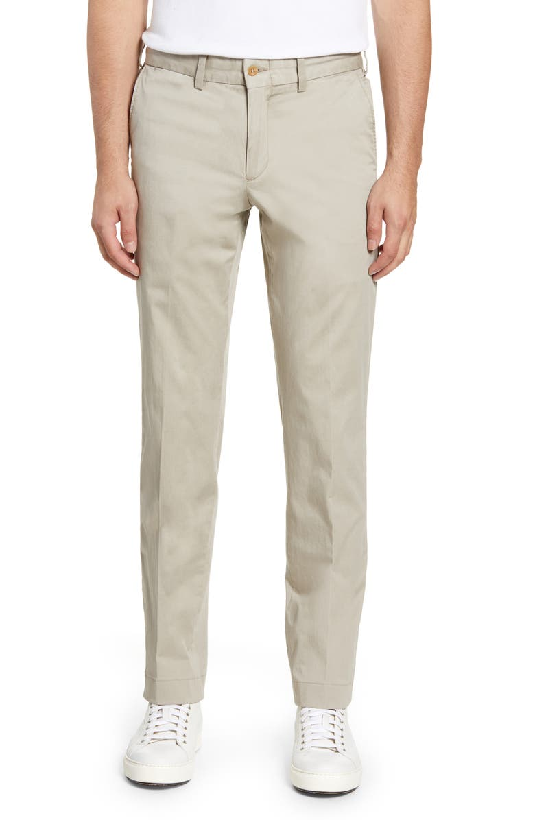 BILLS KHAKIS Straight Leg Stretch Sateen Chinos, Main, color, KHAKI