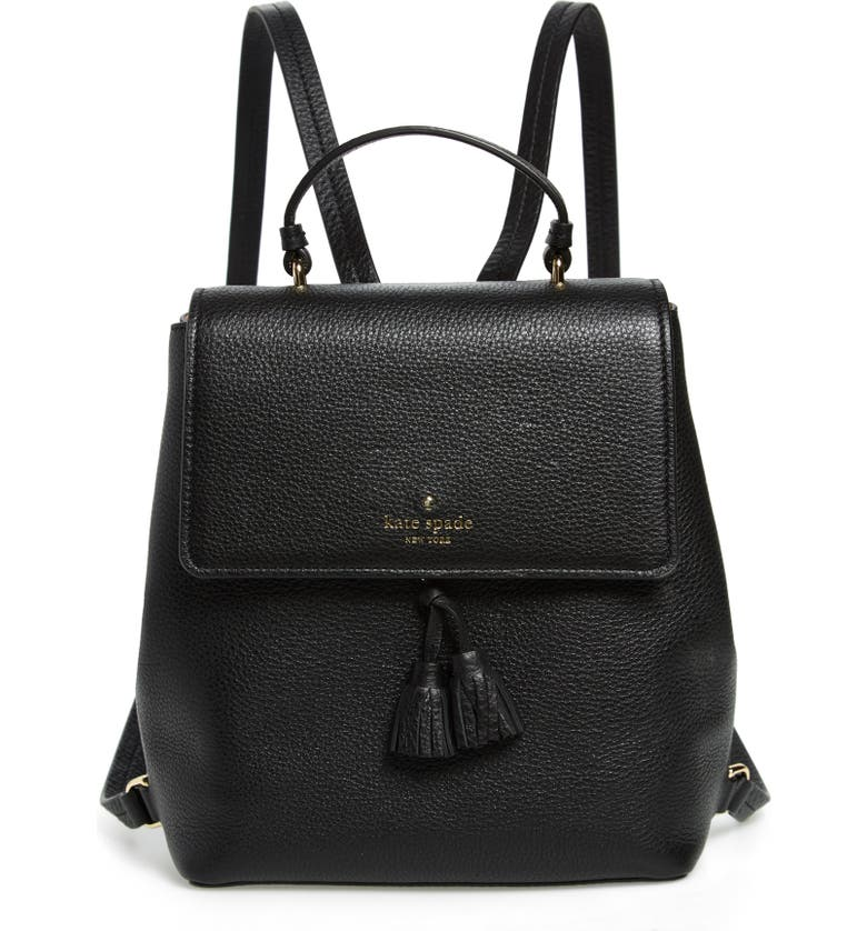 KATE SPADE NEW YORK hayes street - teba leather backpack, Main, color, 001