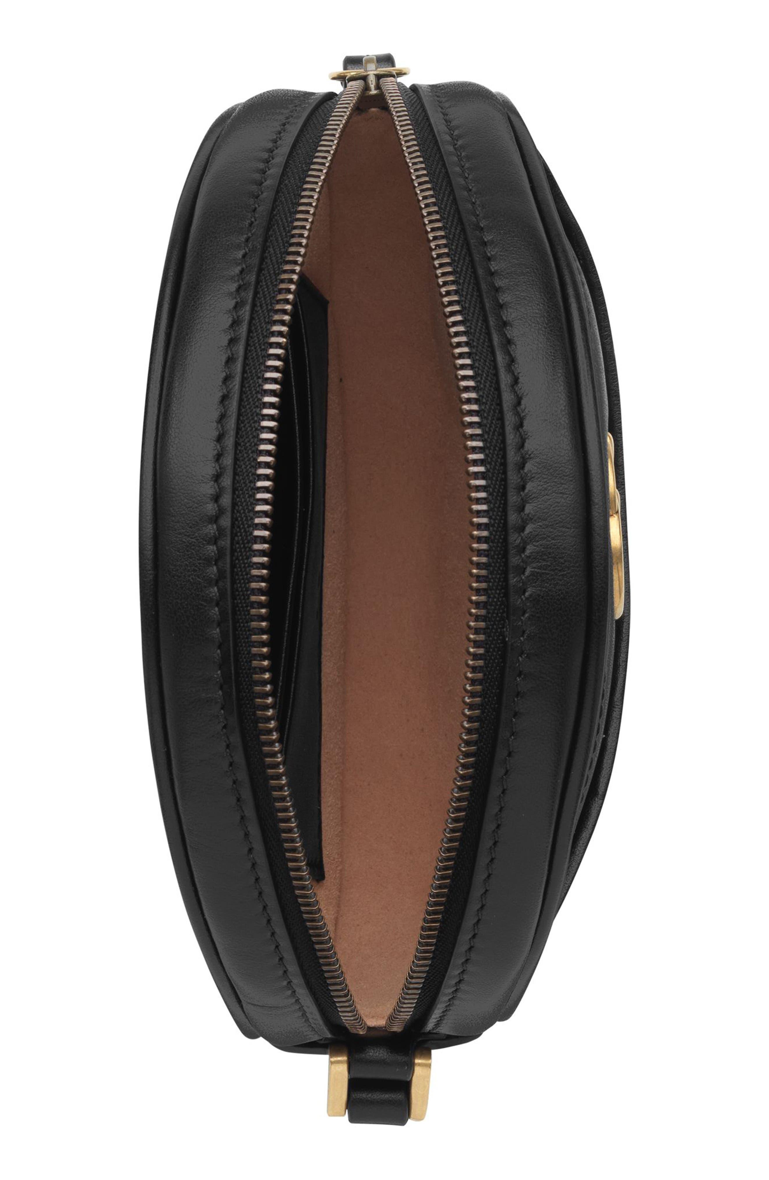 ,                             Marmont 2.0 Leather Wristlet Clutch,                             Alternate thumbnail 3, color,                             NERO/ NERO