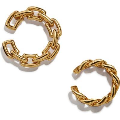 Baublebar Michel Set Of 2 Curb Chain Ear Cuffs
