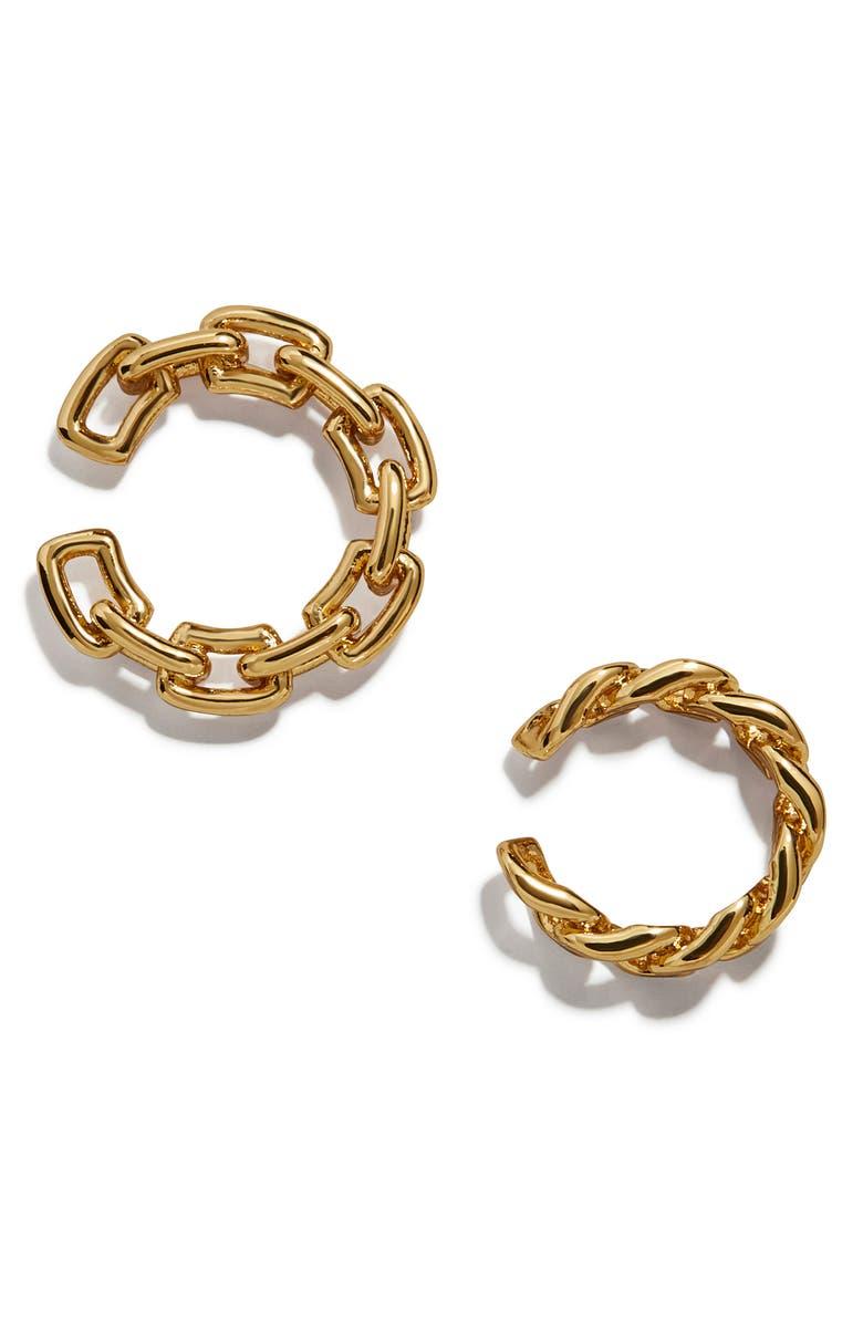 BAUBLEBAR Michel Set of 2 Curb Chain Ear Cuffs, Main, color, 710