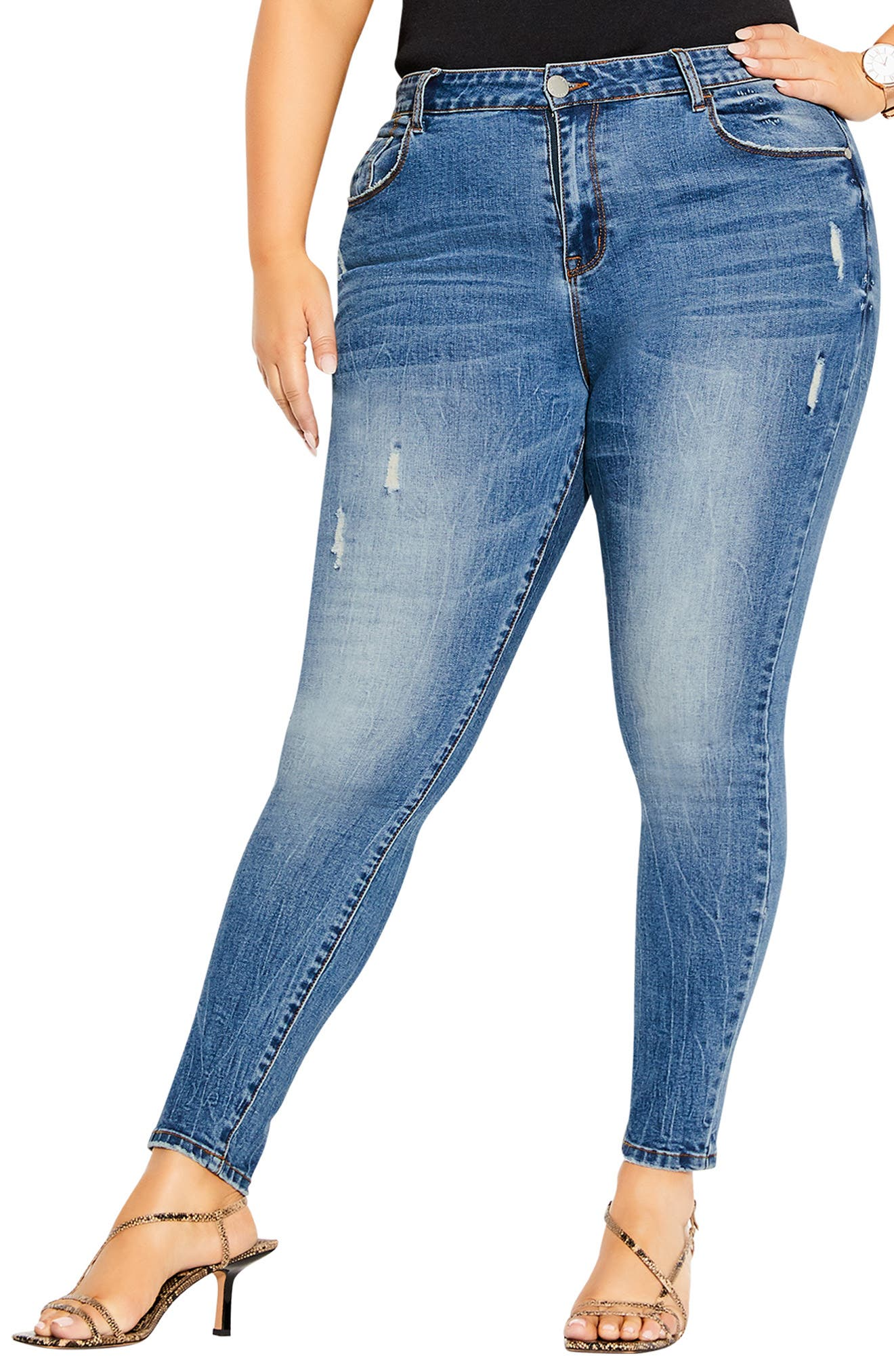 Chill Out Ankle Skinny Jeans