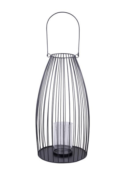 """Image of Home Essentials and Beyond 20.5"""" H Wired Lighting - Black Metal"""