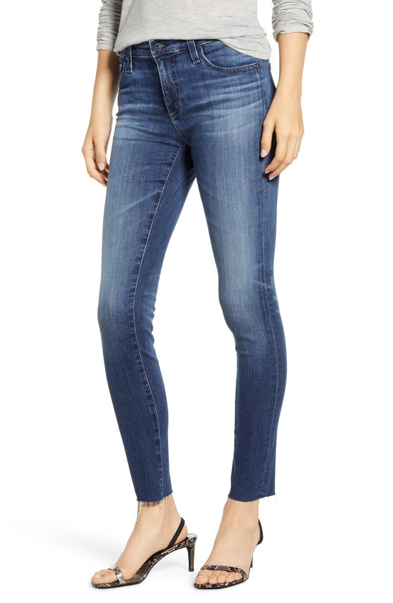 AG Raw Hem Ankle Legging Jeans, Main, color, 12 YEARS IDIOSYNCRATIC