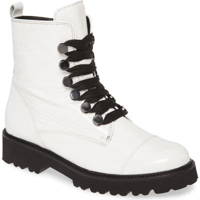Gabor Combat Boot, White