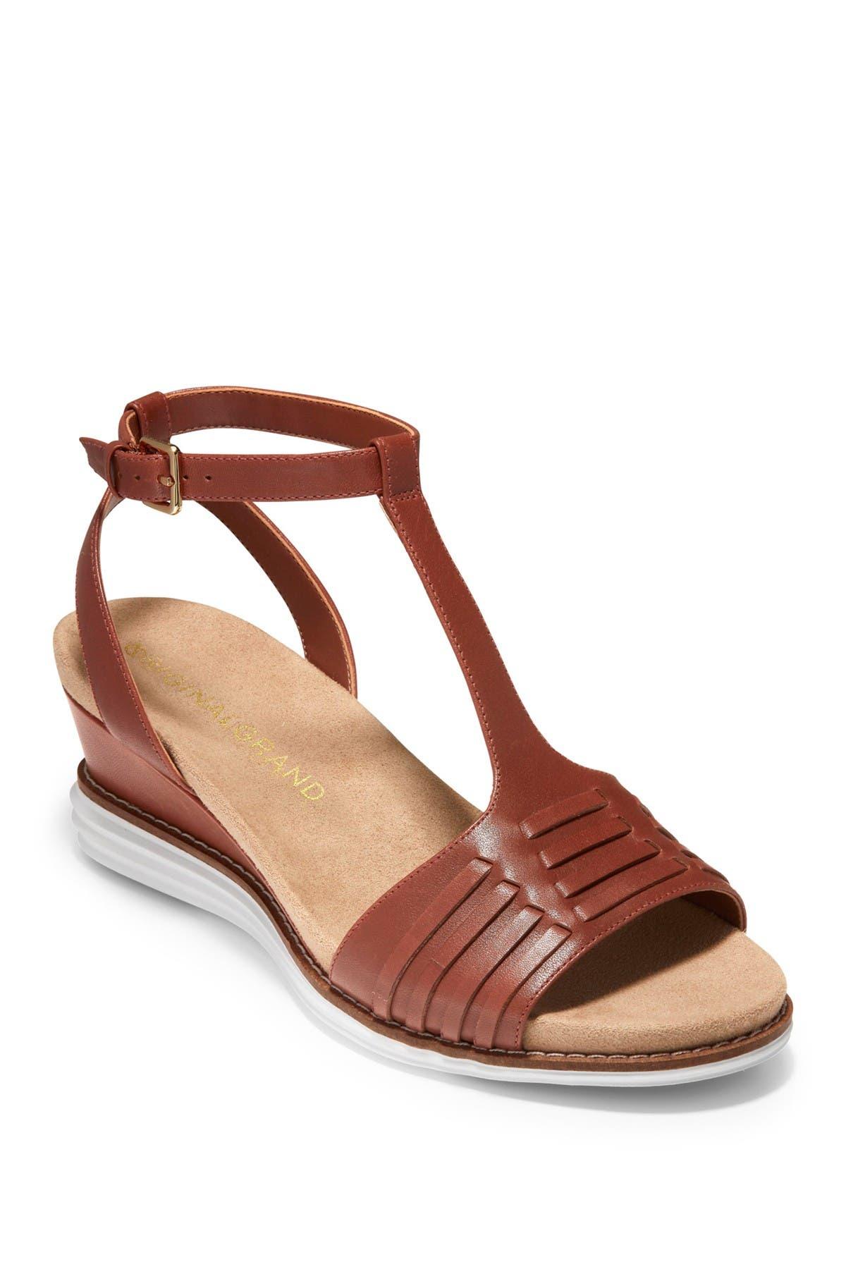 Image of Cole Haan Original T-Strap Wedge Sandal