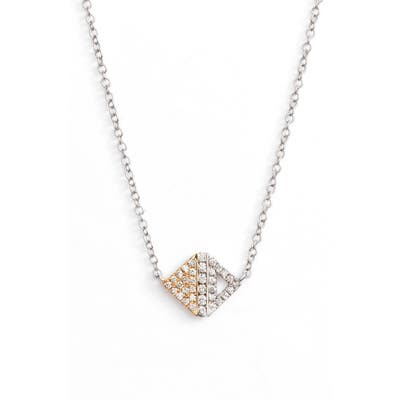 Bony Levy Diamond Pave Triangle Pendant Necklace (Nordstrom Exclusive)