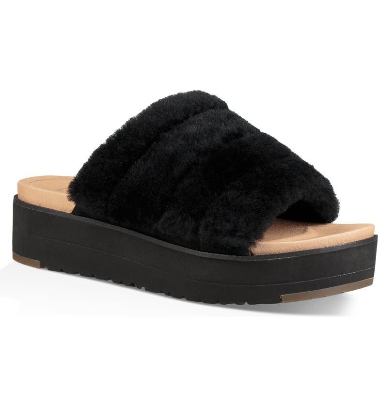 077906c9479 UGG® Fluff Yeah Genuine Shearling Slide Sandal (Women) | Nordstrom