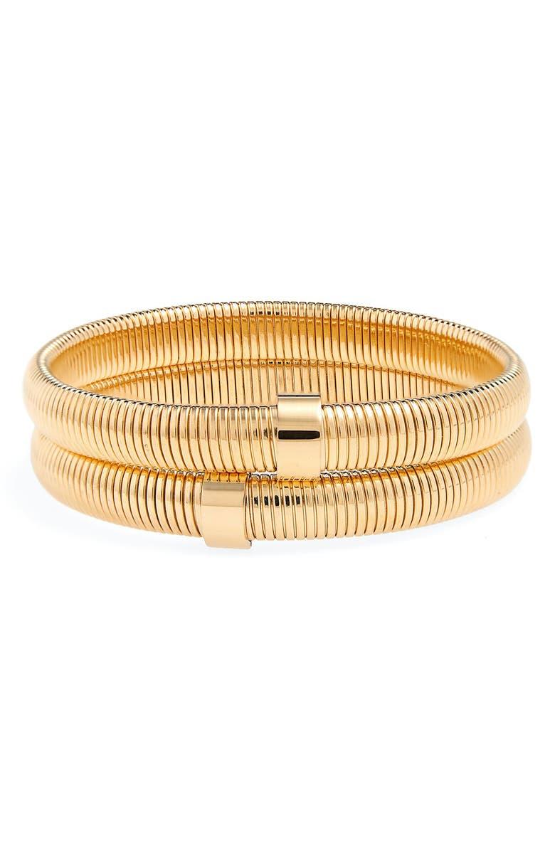 ELLIE VAIL Wren Set of 2 Bracelets, Main, color, GOLD