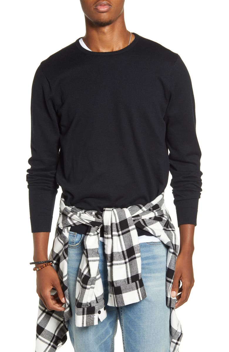 BP. x Alex Costa Cotton Blend Crewneck Sweater, Main, color, 001