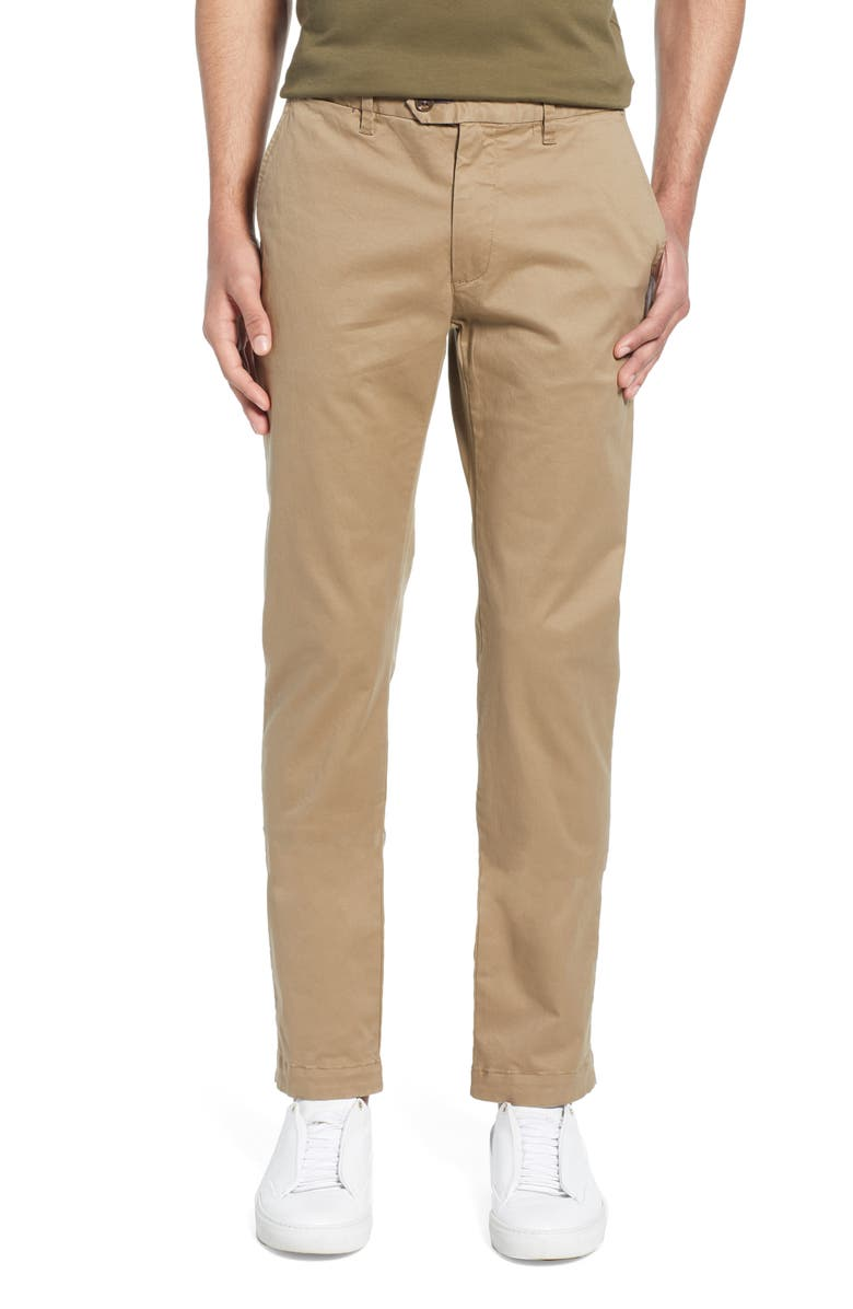 TED BAKER LONDON Seentt Slim Fit Chinos, Main, color, NATURAL