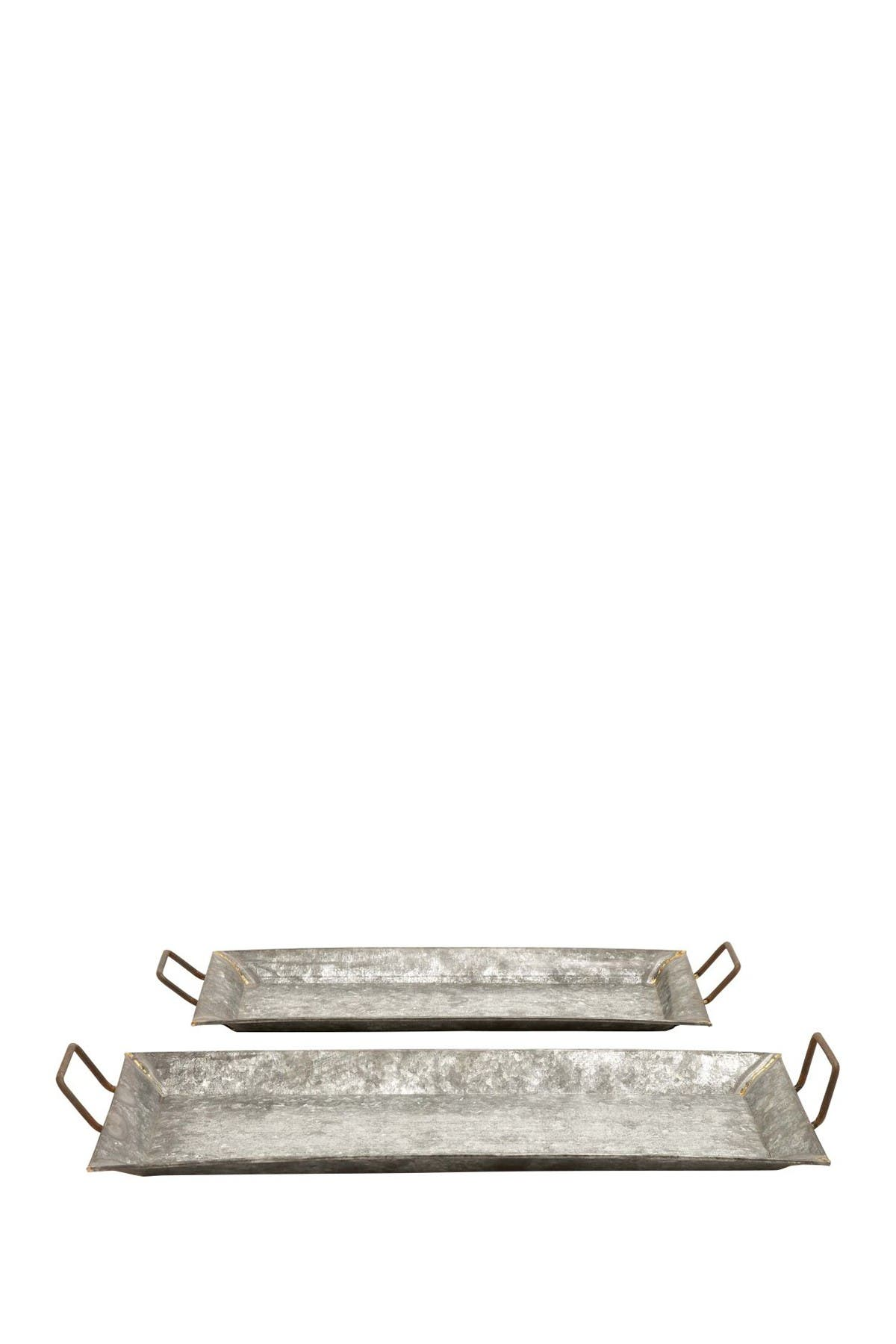 Image of Willow Row MTL Galvn Trays - Set of 2