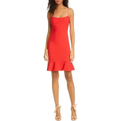 Likely Banks Ruffle Hem Sheath Dress, Red
