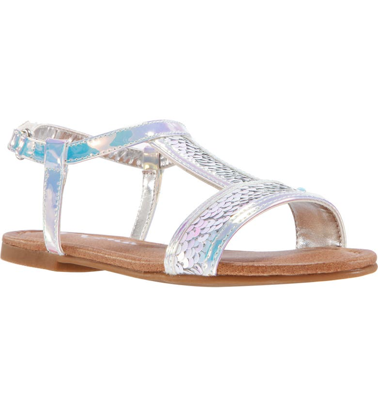 NINA Jenelle Sequin Sandal, Main, color, WHITE SEQUINS