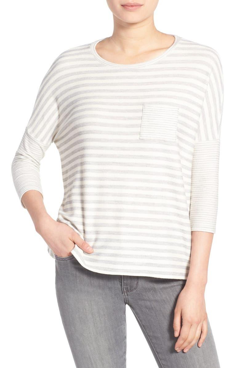 CASLON<SUP>®</SUP> Stripe Pocket Top, Main, color, 030