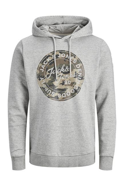 Image of JACK & JONES Graphic Drawstring Hoodie