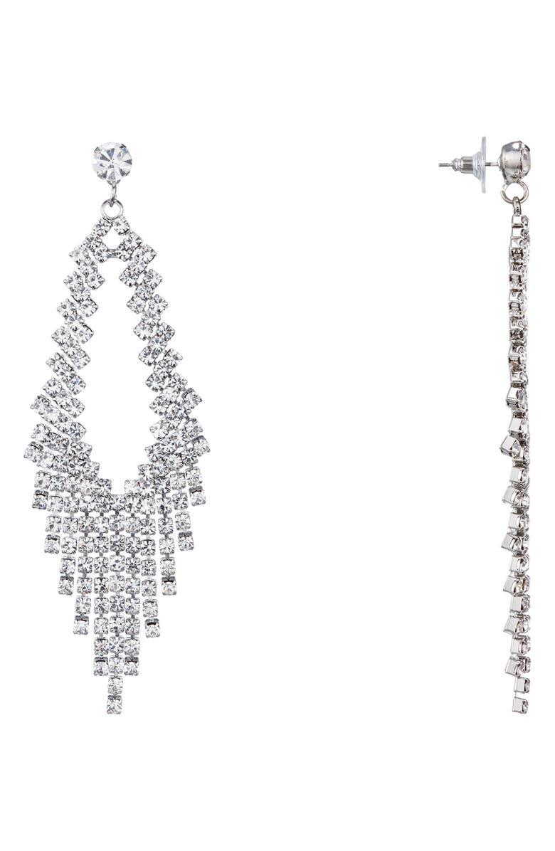 NINA Crystal Chandelier Earrings, Main, color, 040