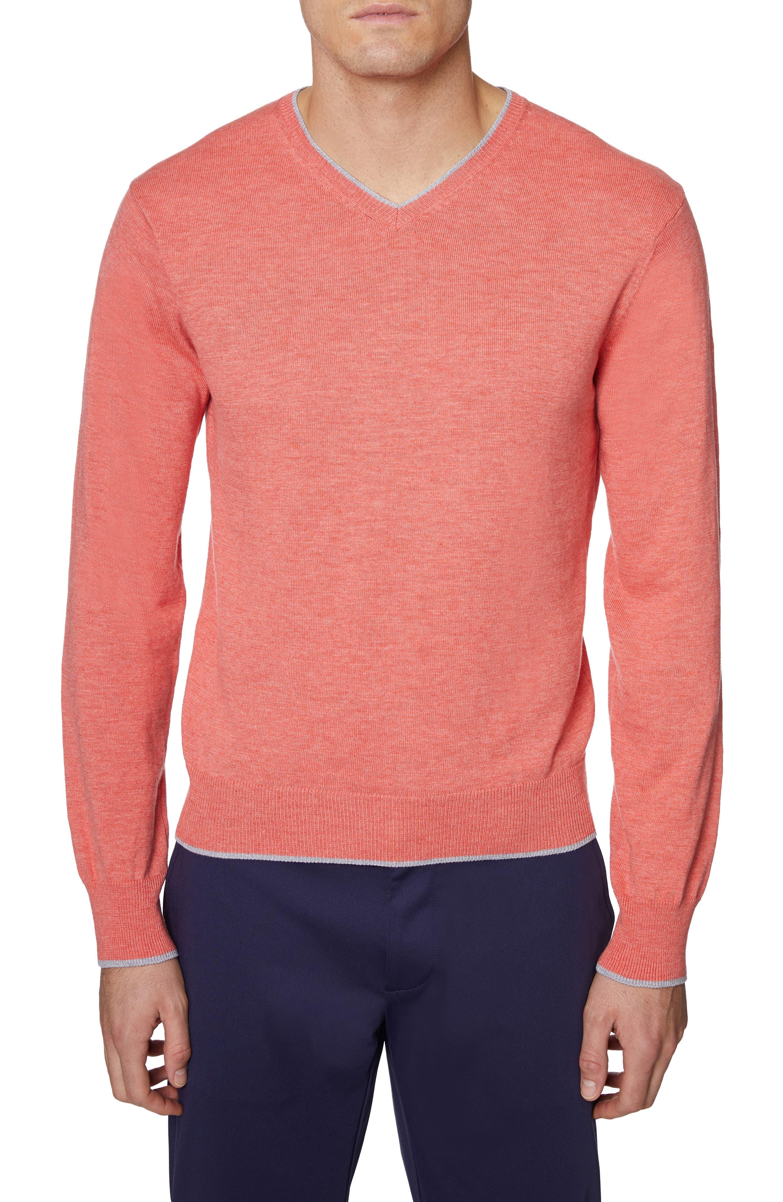 Hickey Freeman V-Neck Cotton Sweater