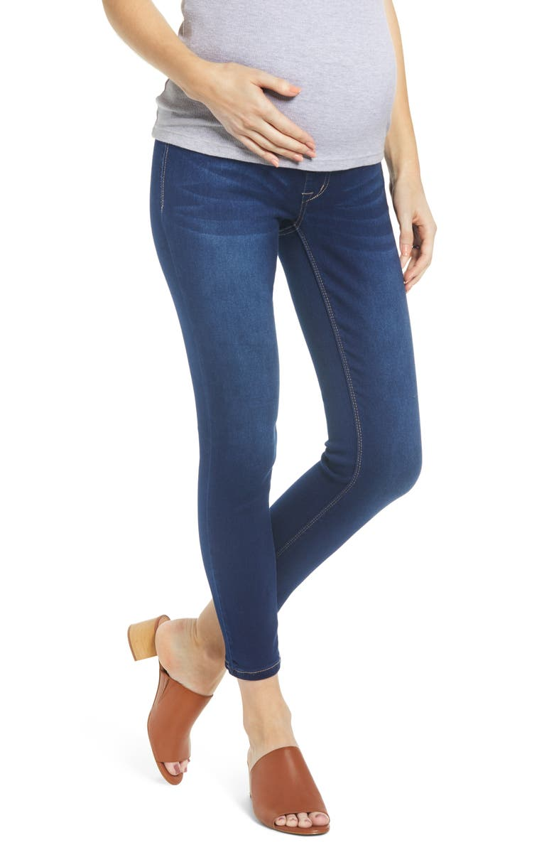 1822 DENIM Butter Ankle Skinny Maternity Jeans, Main, color, LENNOX