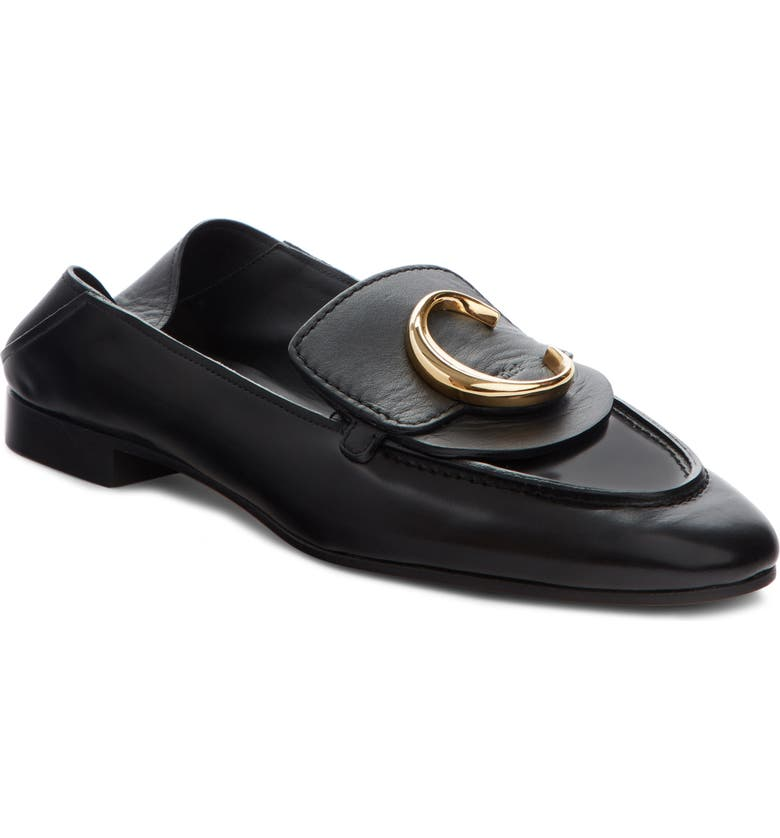 CHLOÉ Story Convertible Loafer, Main, color, BLACK LEATHER