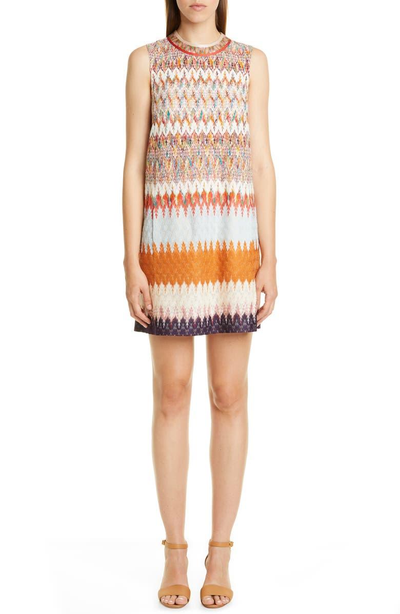 MISSONI Knit Sleeveless Minidress, Main, color, CREAM MULTI