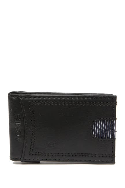 Image of Levi's Delgado RFID Front Pocket Leather Wallet