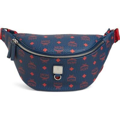 Mcm Fursten Visetos Medium Belt Bag - Blue