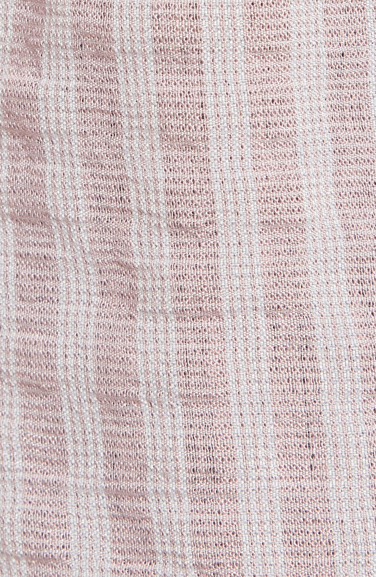,                             Stripe Short Sleeve Shirt,                             Alternate thumbnail 7, color,                             PINK CANYON CLOUD STRIPE