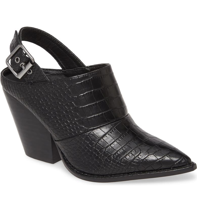 CHINESE LAUNDRY Tilani Slingback Bootie, Main, color, BLACK FAUX LEATHER