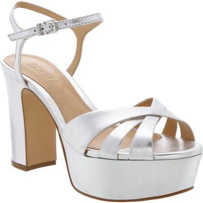 Schutz Keefa Platform Sandal, Metallic