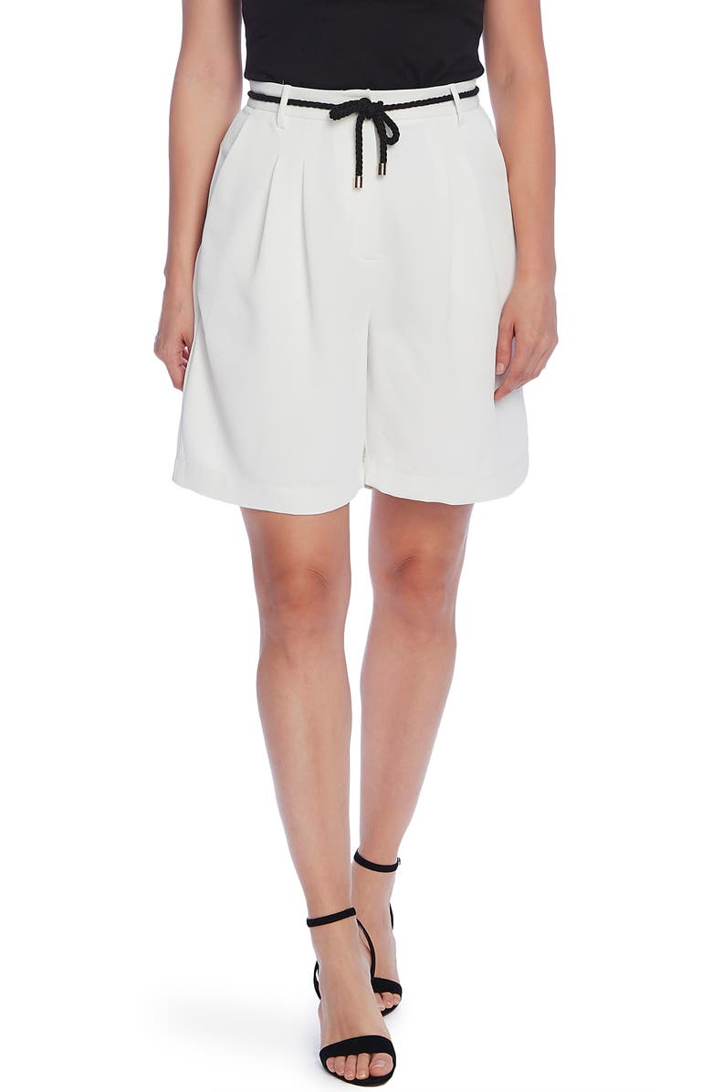 VINCE CAMUTO Washed Pique Bermuda Shorts, Main, color, 103