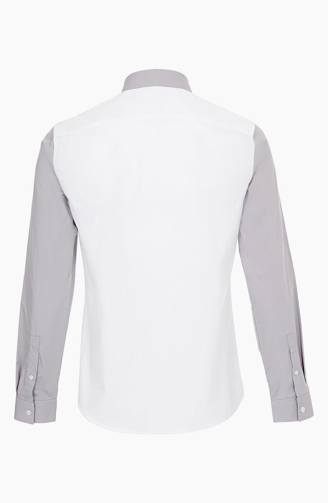 ,                             Topman 'Smart' Extra Trim Contrast Dress Shirt,                             Alternate thumbnail 2, color,                             100