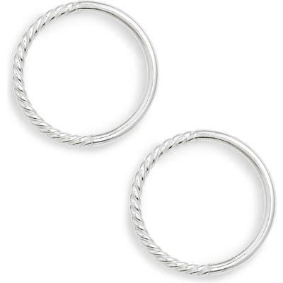 Argento Vivo Rope Frontal Hoop Earrings