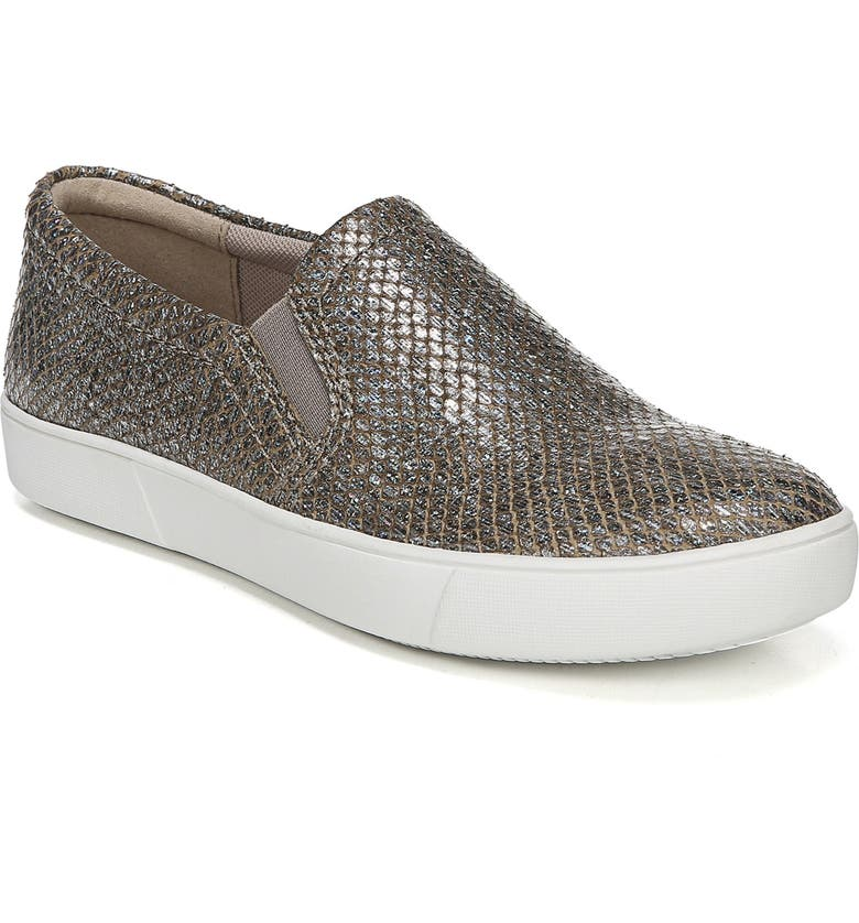 NATURALIZER Marianne Slip-On Sneaker, Main, color, PEWTER CRACKLE LEATHER